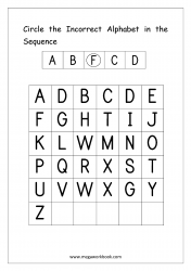 Alphabet Ordering Worksheet - Circle Incorrect In The Sequence