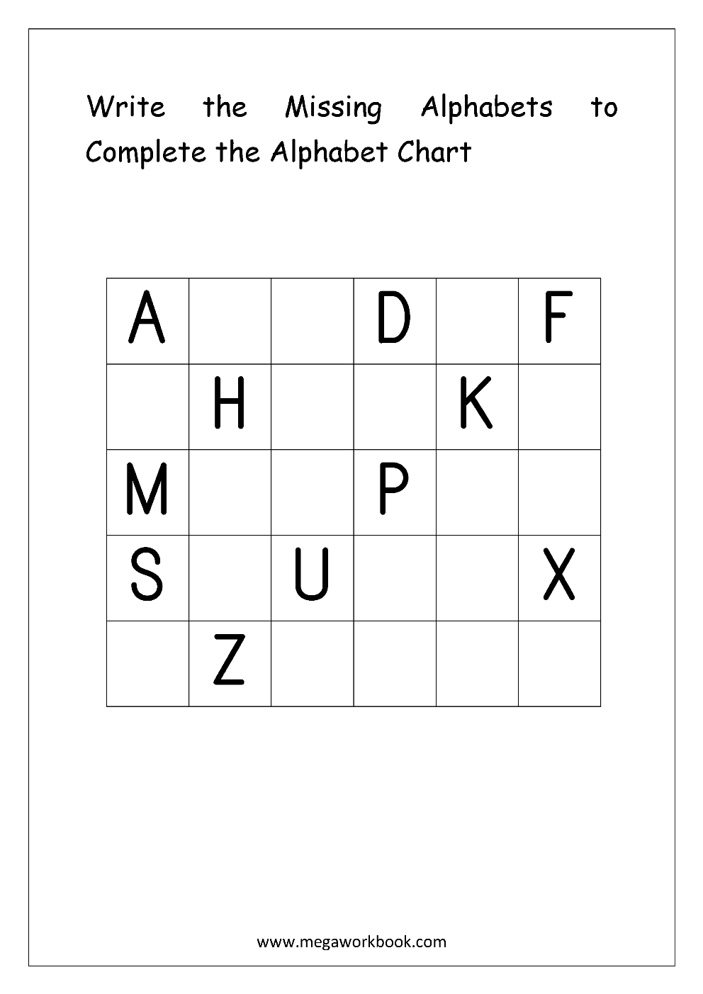 Free English Worksheets - Alphabetical Sequence - MegaWorkbook