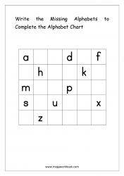 Alphabet Ordering Worksheet - Write The Missing Alphabets