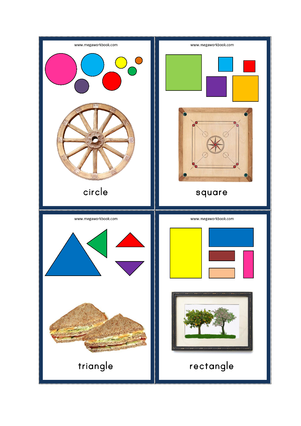 image about Free Printable Shape Flashcards referred to as Designs Flashcards - Cost-free Printable Designs Flash Playing cards For