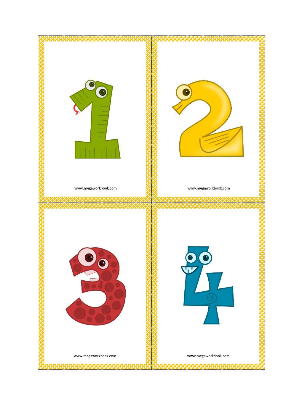 image relating to Free Printable Number Cards 1-20 referred to as Selection Flashcards - Quantity Flashcards Printable Free of charge - (1 in direction of