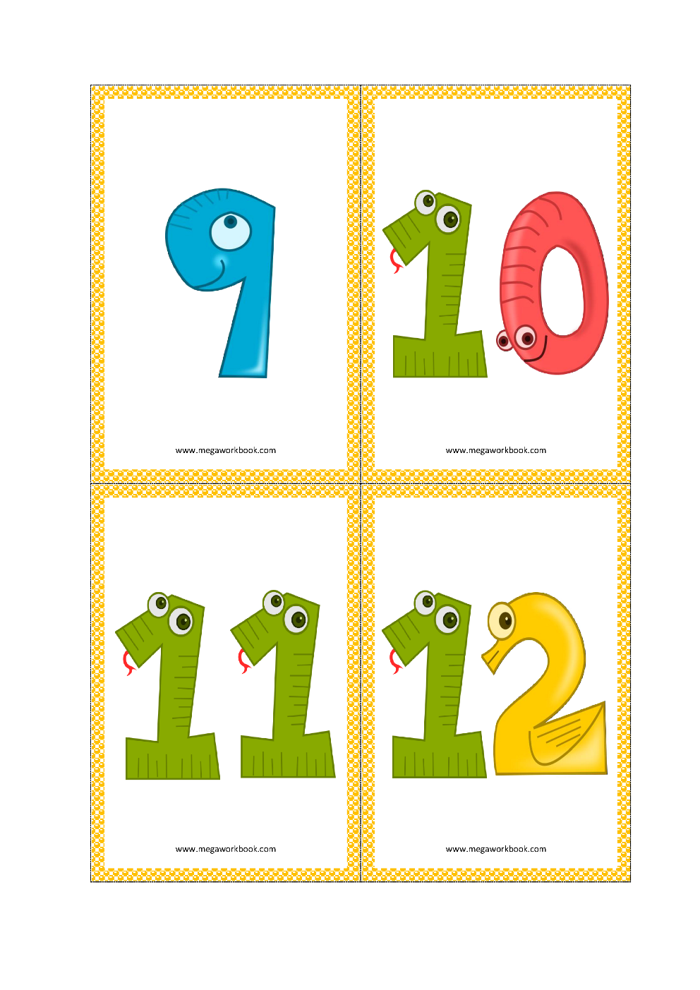 graphic about Free Printable Number Cards 1-20 titled Selection Flashcards - Range Flashcards Printable Cost-free - (1 in direction of