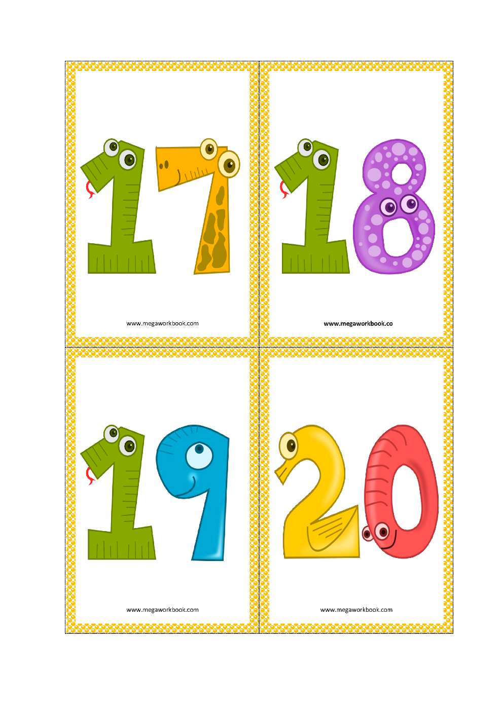 picture relating to Printable Numbers 1 20 Flashcards titled Amount Flashcards - Range Flashcards Printable Absolutely free - (1 toward