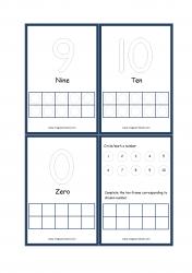 Ten Frame Printable Flashcards - Ten Frame Math Counting Activity 1-10