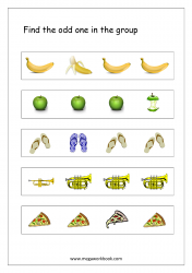 Odd One Out - Worksheet 3