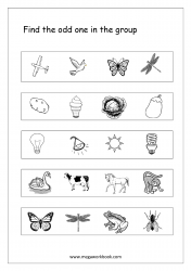 Odd One Out - Worksheet 13