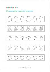 Color Pattern Worksheet - Patterns Worksheets For Kindergarten - Create Your Own Patterns