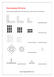 Decreasing Patterns Worksheets - Picture Patterns
