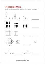 Decreasing Patterns Worksheets - Pattern Worksheets for Kindergarten