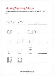 Growing And Decreasing Patterns Worksheets - Pattern Worksheets for Kindergarten