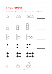 Growing Picture Patterns Worksheet