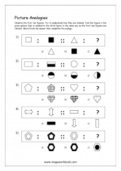 Free Printable Picture Analogy Worksheets For Kindergarten