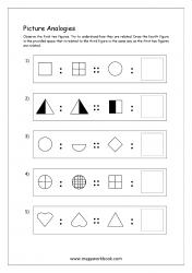 Picture Analogies Worksheet For Kindergarten - 10