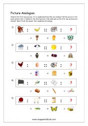 Picture Analogies Worksheet For Kindergarten - 07
