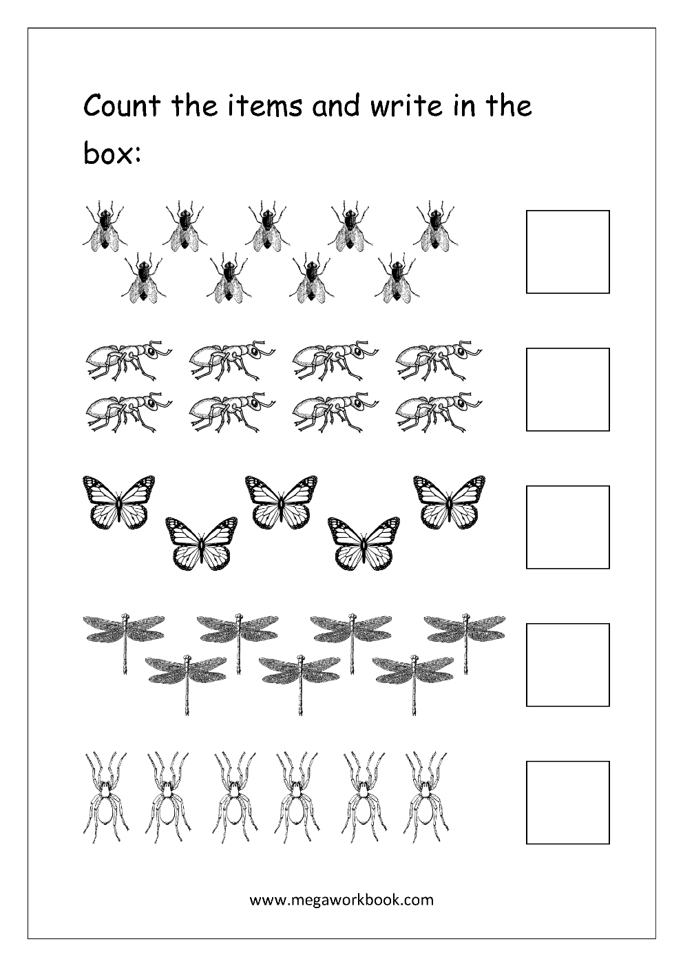 image relating to Printable Counting Worksheets identified as Totally free Printable Amount Counting Worksheets - Depend and Video game