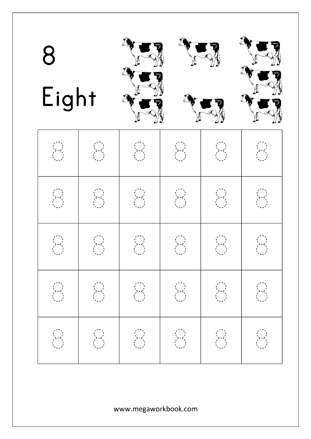 photograph about Printable Tracing Numbers referred to as Totally free Printable Range Tracing and Crafting (1-10) Worksheets