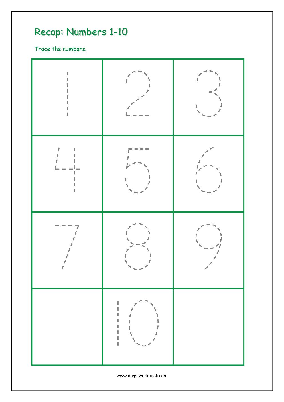 Number Tracing - Tracing Numbers - Number Tracing Worksheets ...