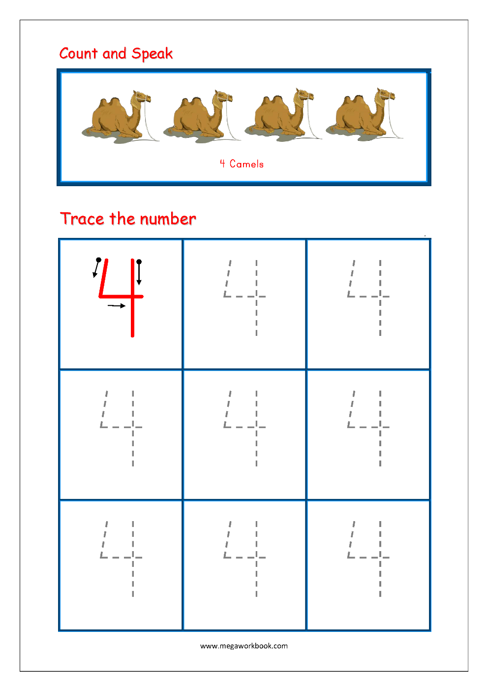 - Number Tracing - Tracing Numbers - Number Tracing Worksheets
