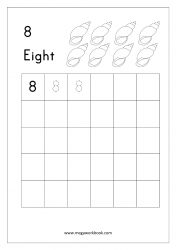 Tracing Numbers - Number Tracing Worksheets - Tracing Numbers 1-10 - Number Eight (8)