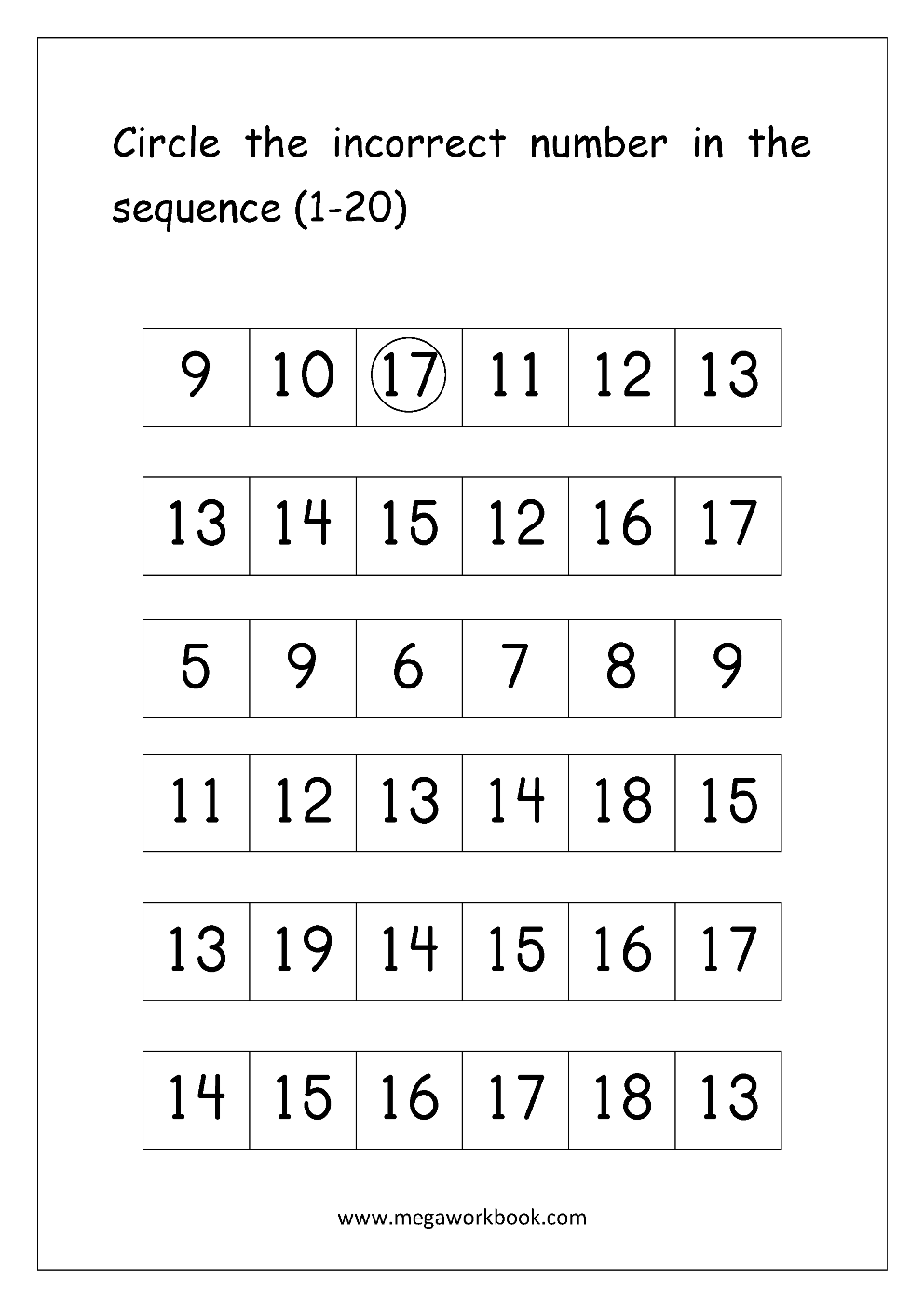 Ordering Numbers Worksheets, Missing Numbers, What comes before and ...