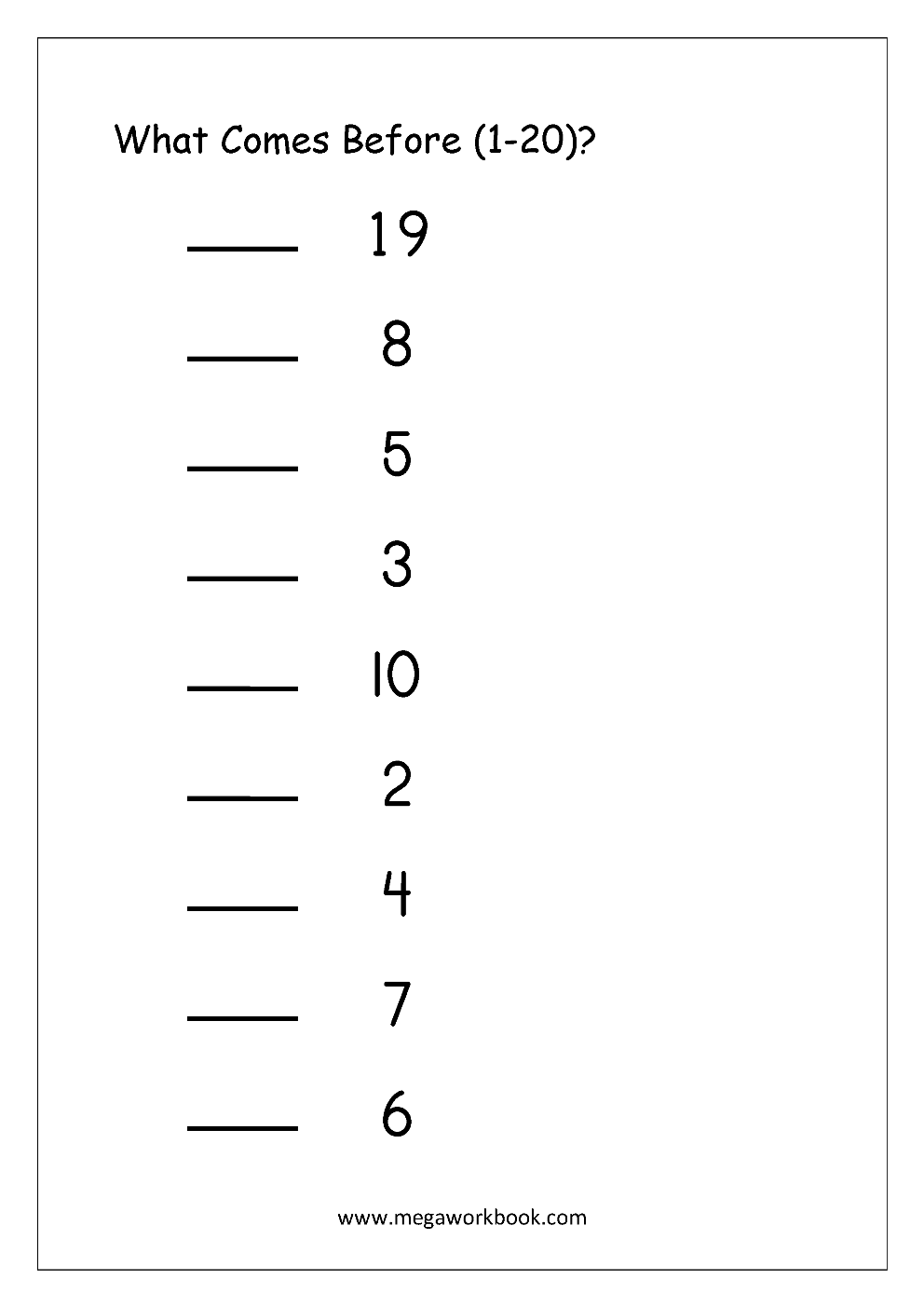 worksheet Number Worksheets 1-20 free math worksheets number ordering and missing numbers circle the incorrect in sequence 1 2 what comes after before