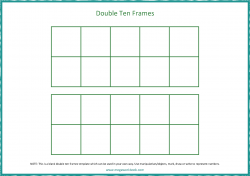 Double Ten Frames Template