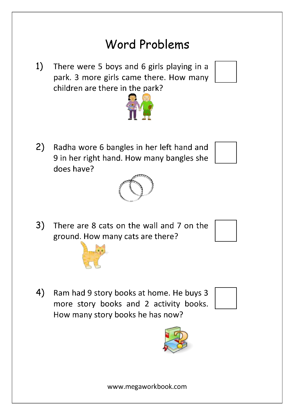 Word Problems MegaWorkbook – Math Worksheets Word Problems