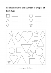 Count The Shapes - Worksheet 1