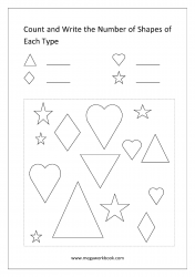 Count The Shapes - Worksheet 3