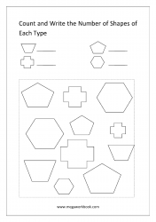Count The Shapes - Worksheet 4