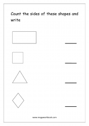 Count The Sides Of The Shapes - Worksheet 1