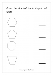 Count The Sides Of The Shapes - Worksheet 2