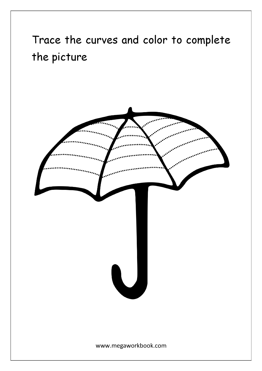 Umbrella Shapes Printable 3d House Drawing