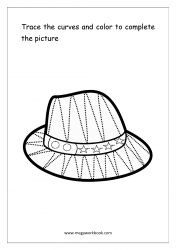 Curve Tracing (Hat) - Pre-Writing Worksheet 2