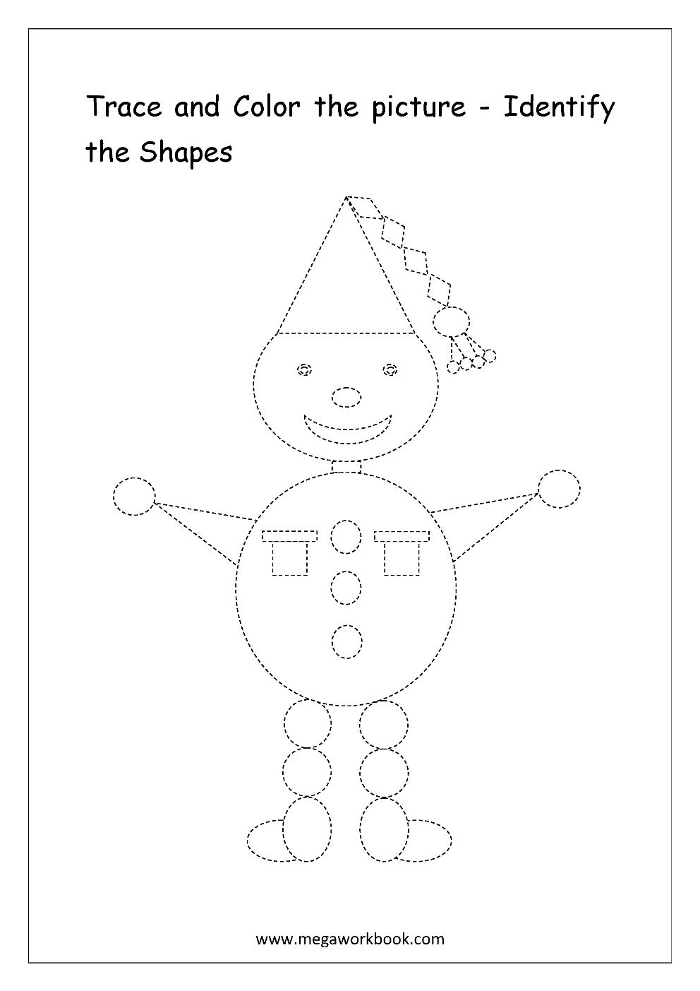 worksheet Identify Shapes Worksheet free shapes worksheets identify the megaworkbook joker