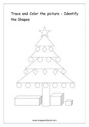 Identify The Shapes - Christmas Tree