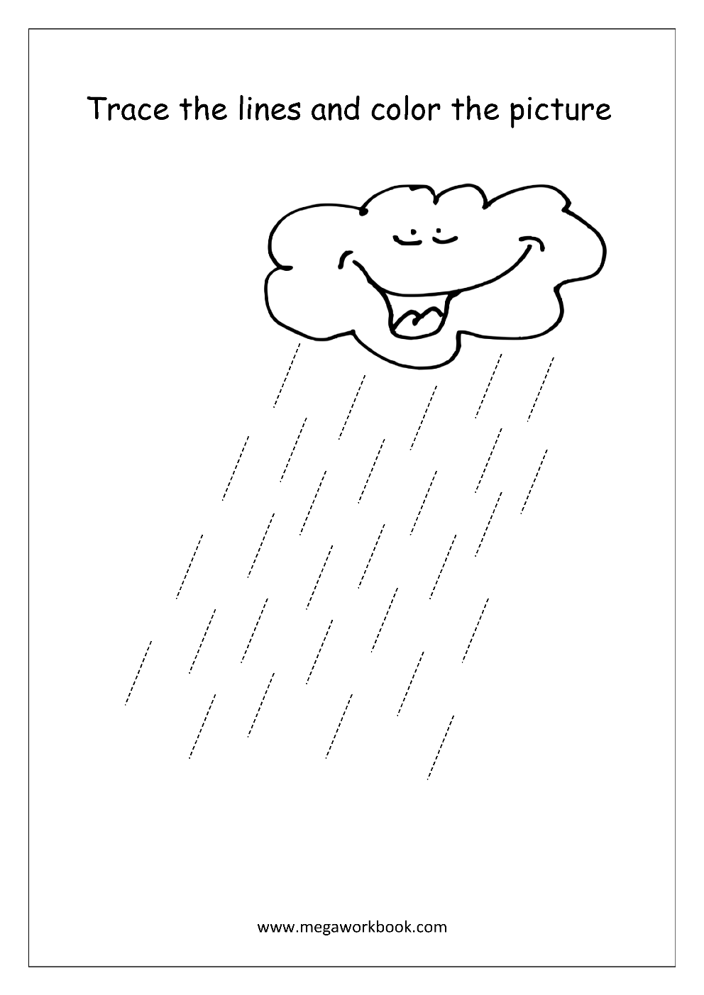 rain printable kindergarten worksheets rain best free printable worksheets. Black Bedroom Furniture Sets. Home Design Ideas