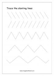 Line Tracing (Slanting Lines) - Pre-Writing Worksheet 1