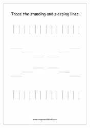 Line Tracing (Standing And Sleeping Lines) -  Pre-Writing Worksheet 2