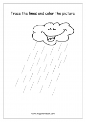 Line Tracing (Rain) - Pre-Writing Worksheet 4