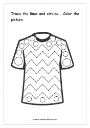 Line Tracing (T-Shirt) - Pre-Writing Worksheet 5