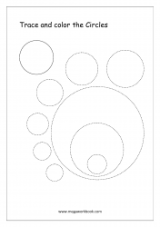 Trace And Color The Shape - Circle