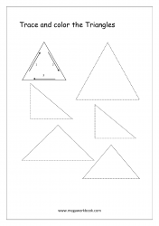 Trace And Color The Shape - Triangle