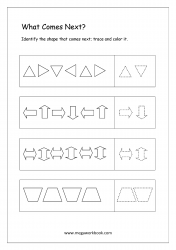 Pattern Identification (What Comes Next) - Worksheet 5