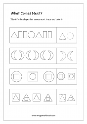 Pattern Identification (What Comes Next) - Worksheet 7