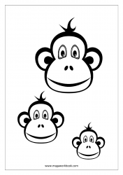 Monkey Coloring Pages - Animal Coloring Pages