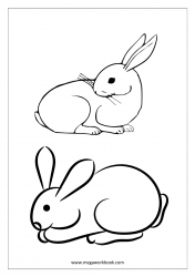 Rabbit Coloring Pages - Animal Coloring Pages