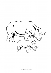 Rhinoceros/Rhino Coloring Pages - Animal Coloring Pages