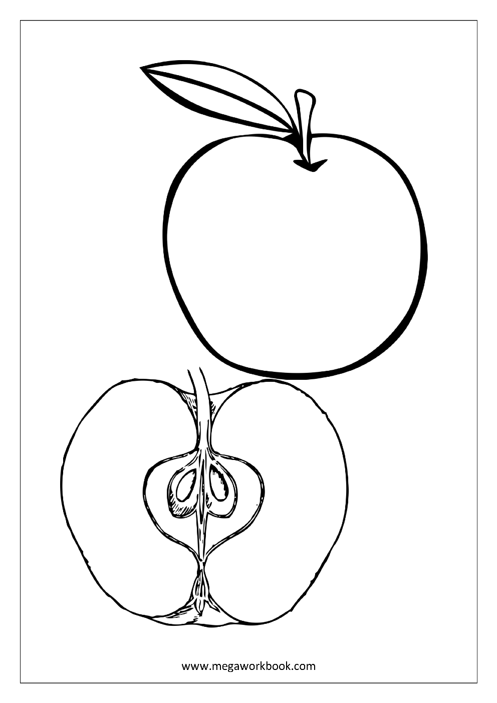Fruit Coloring Pages Vegetable Coloring Pages Food Coloring Pages Free Printables Megaworkbook