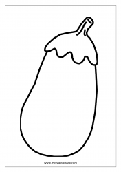 Brinjal Coloring Page